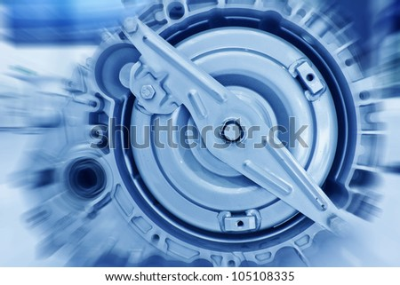 Close up of gasoline car engine
