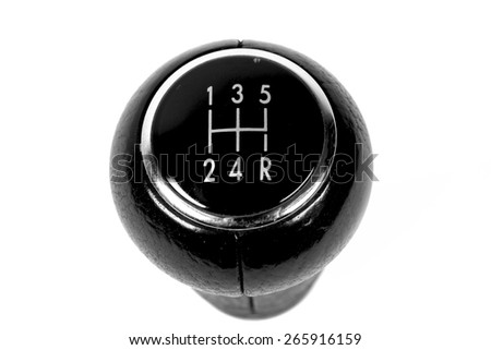 Close up of gear lever - stock photo