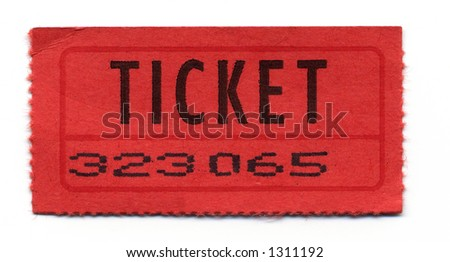 Close-Up of General Admission Ticket - stock photo