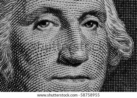 Close up of george washington on a dollar bill - stock photo