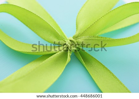 close-up of gift box with ribbon bow - stock photo