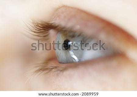 Close up of girl's eye - stock photo