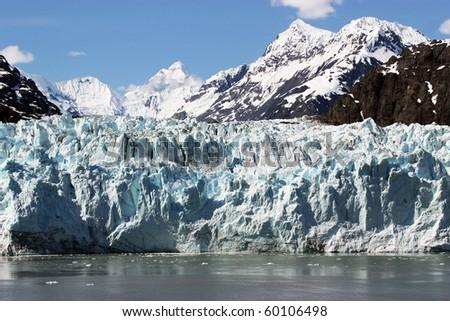 Close up of Glacier in Glacier Bay, Alaska. - stock photo