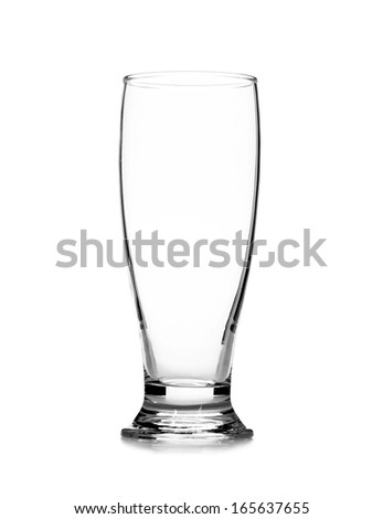 Close up of glass. Isolated on a white background.