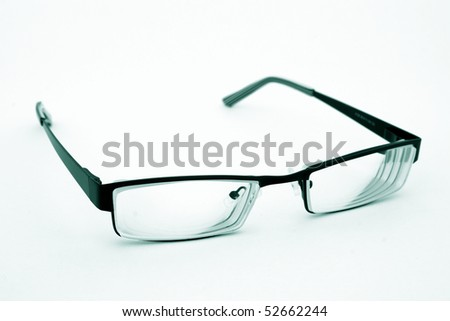 Close-up of glasses isolated
