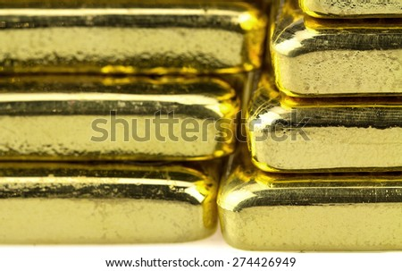 Close up of gold bar for background. - stock photo
