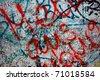 Close up of graffiti on the Berlin wall - stock
