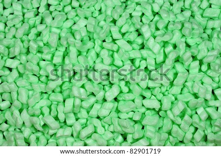 close-up of green foam packaging material background