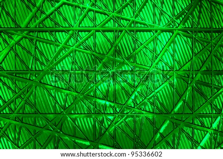 Close up of green traffic light - stock photo