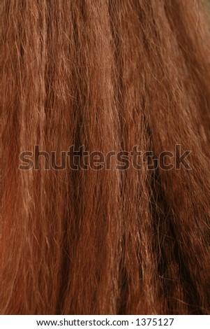 close-up of hair - stock photo