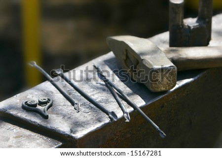 close up of hammer and tools - stock photo