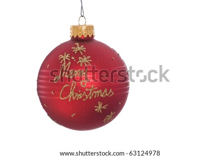 Close up of hanging christmas ornament