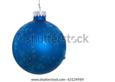Close up of hanging christmas ornament - stock photo