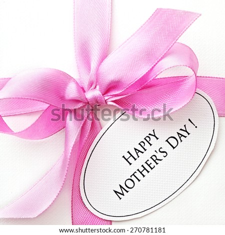 close-up of happy mothers day gift  - stock photo