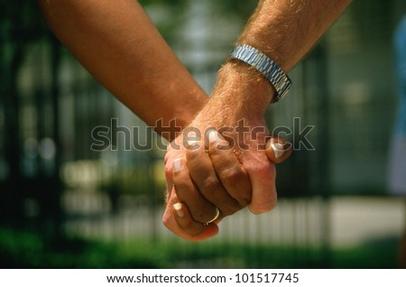Close-up of holding hands at Hands Across America