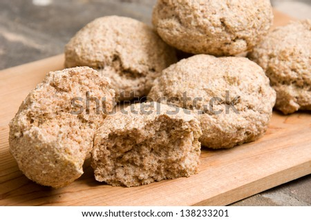 close up of homemade breads - stock photo
