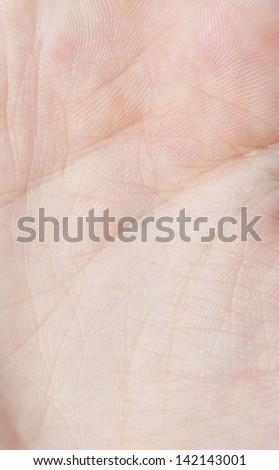 close up of human skin - stock photo