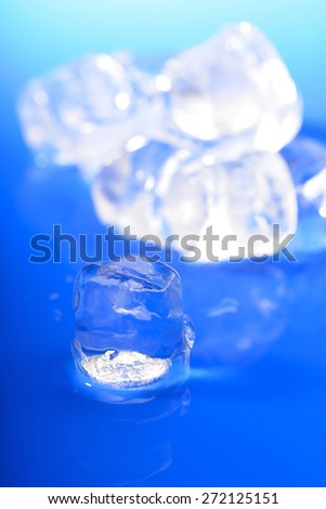 Close up of ice cubes - stock photo
