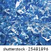 close-up of ice cubes on blue - stock photo