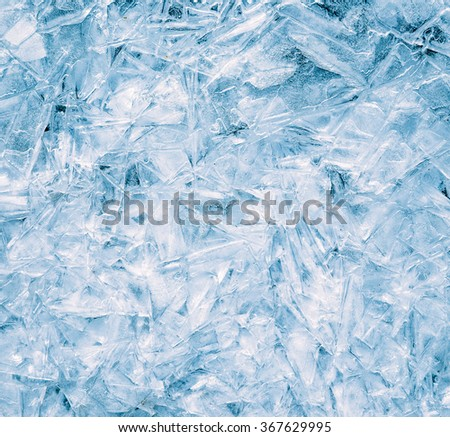 Close-up of ice surface, abstract background. - stock photo
