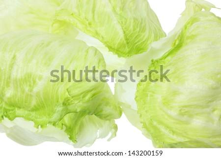Close Up of Iceberg Lettuce - stock photo