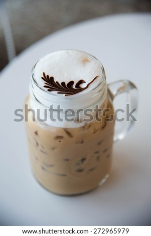 close up of Iced coffee