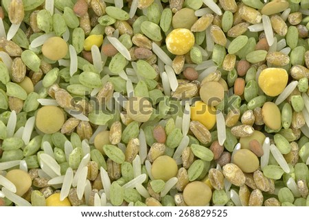Close-up of ingredients for soup mix - stock photo