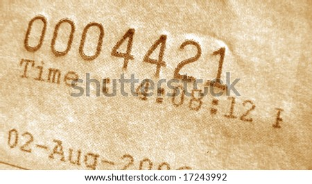 Close-up of invoice number - stock photo