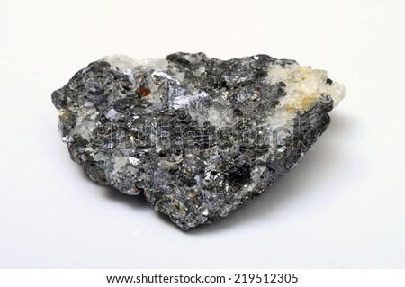 Close up of iron mineral stone - stock photo