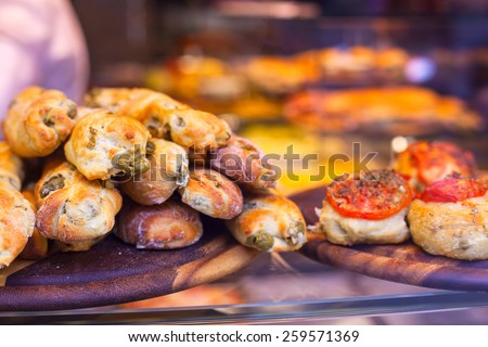 Close up of Italian street food - stock photo