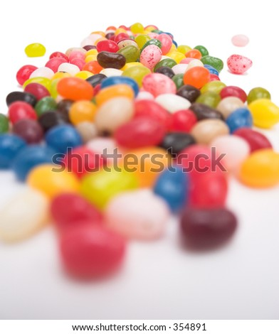 Close up of jelly bean candy - selective focus