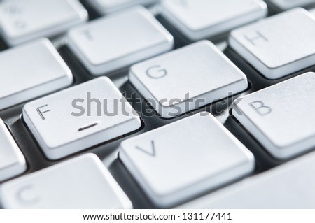 Close up of keyboard of a modern computer