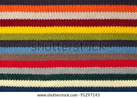 Close up of  knitted wool texture - stock photo