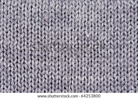 Close-up of knitted wool texture/ Gray - stock photo