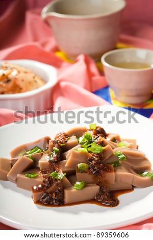 Close up of Korean dish. - stock photo