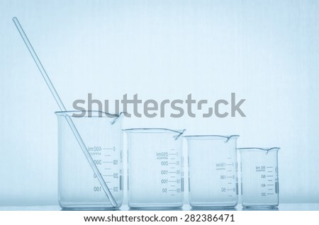 close-up of laboratory glassware ,science background abstract - stock photo
