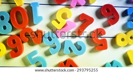 Close-up of letters and numbers - stock photo