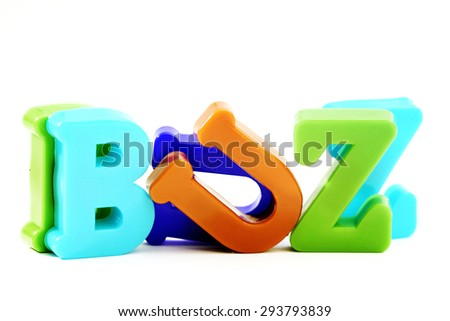 "Close-up of letters. ""Buzz"" word. - stock photo"