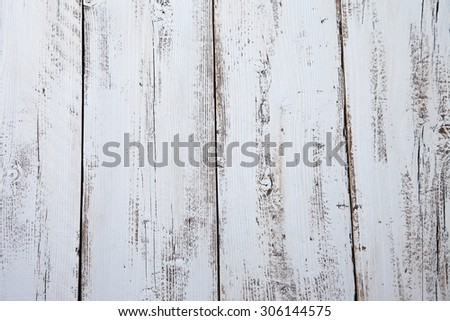 Close up of light blue wooden background - stock photo