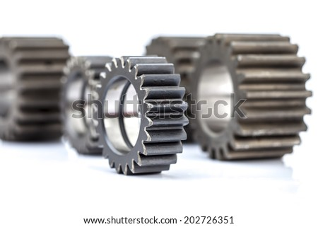 Close-up of Machine Gears - stock photo