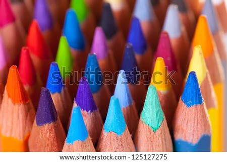 Close up of many pencils   background - stock photo