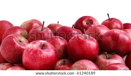 Close-up of many red juicy apples - stock photo