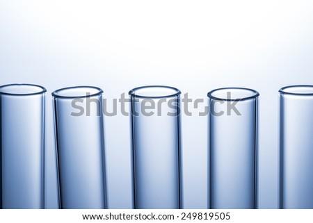 close up of many test tube - stock photo