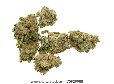 Close up of marijuana (Cannabis) shot with a macro lens - stock photo
