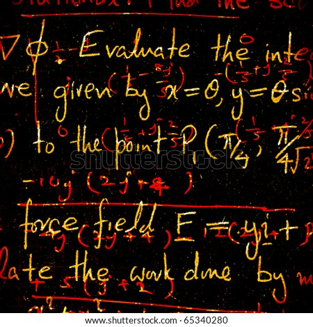 Close up of mathematical background - stock photo
