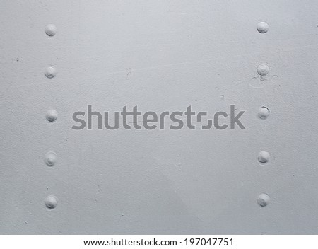 Close up of metal, ship texture with copy space - stock photo