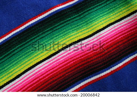 Close up of Mexican Serape - stock photo