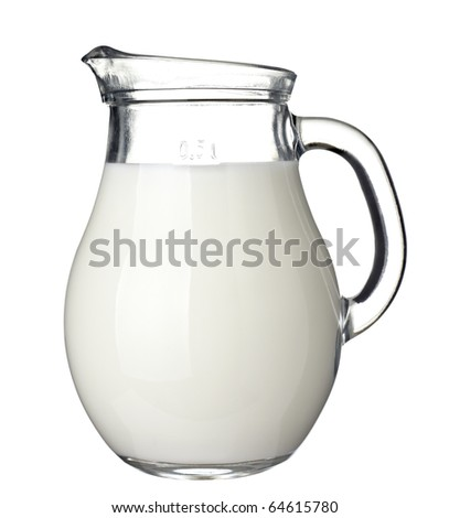 close up of  milk on white background  with clipping path