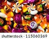 Close-up of mixed colorful candies. - stock photo