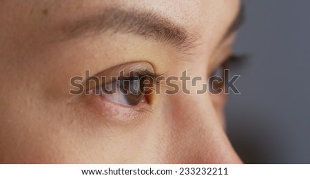 Close up of Mixed race woman's eyes - stock photo